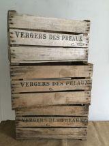 Caisse de pommes Vergers des Préeaux