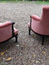 Paire fauteuils Napoleon III