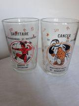 8 verres motif Horoscope 1970