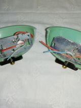 Appliques vintages opaline et laiton