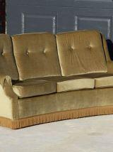 Canapé 3 places en velours