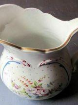 Belle et grande cruche ancienne en porcelaine américaine -