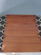 grande étagère string structure métal noir et 3 planches