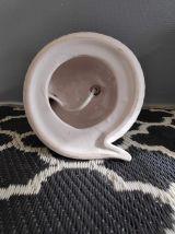 lampe cobra céramique et opaline blanches