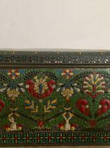 Boite en métal avec motif floral, déco vintage