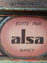 "Jolie boite lithographiée ""ALSA"""