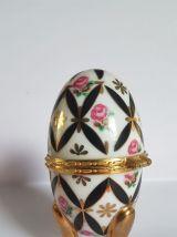 boite à bijoux en forme d'œuf en porcelaine