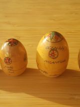 Très bel œuf gigogne carte géographique