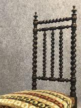 Chaise basse en bois torsadé -  XIXème