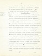 """Tapuscrit signé corrections autographes """"Abwehr et Gestapo"""""""