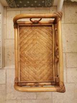 Commode bambou rotin et osier