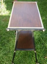 Table,desserte TV roulettes annees 1970