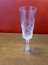 Service de table carafe et de 4 verres ciselés vintage