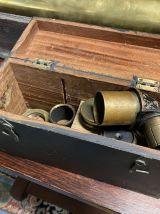 Longue vue sur pieds du XIXème siècle de la marine anglaise