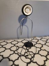 lampe eyeball métal noir et chromé réglable