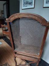 Fauteuil de bureau  canné XIXème