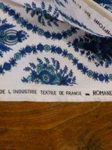 Coupon de Tissus BOUSSAC modele Séville, fleurs bleues