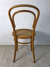 Chaise de bistrot cannée vintage 50's