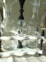 plateau vinaigre et huile 1950/60 ceramique