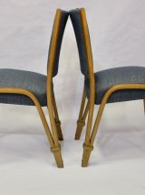 Set de 2 chaises Bow Wood 1950 édition Steiner