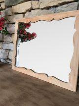 Miroir mural vintage avec cadre en bois massif
