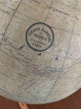 Ancien globe mappemonde Girard Barrère et Thomas vintage