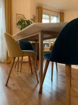 Table à manger hexagonale