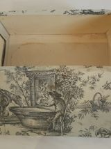 Boite vintage toile de jouy