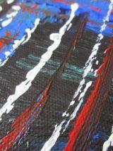 Peinture réalisée à l'acrylique sur toile coton, châssis boi