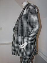 """Tailleur jupe vintage """"Verdosa"""" carreaux noir et blanc"""