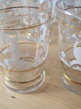 10  verres gobelet 15 cl ancien  1940/1950  vintage