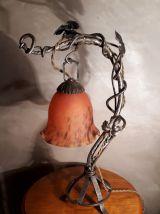 lampe fer forge art nouveau  brandt ,1900