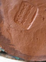 Ancien  santon terre cuite  M.CHAVE AUBAGNE lavandière  23 c