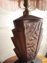lampe verre moulé pressé depoli chocolat