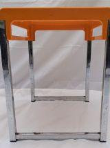 Bout de canapé vintage orange