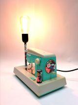 """Lampe vintage, lampe de bureau, lampe de chevet """"Ma Cousette"""