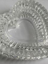 Boîte en verre cristal en forme de coeur