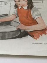 Affiche scolaire pédagogique MDI 1970
