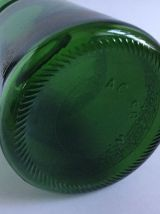 Bocal en verre vert d'apothicaire