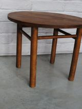 Table basse ronde en bois 1950