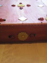 Grande boite en bois taille 33 cm x 24 cm hauteur 6.50 cm