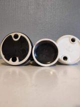 pièces d'échec pour décoration en céramique blanche ou noire