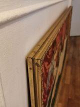 Tableau canneva cadre bois doré
