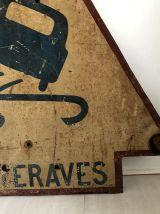 """Plaque en Tôle vintage 50's """"betteraves"""""""