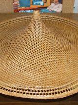 Grand chapeau en osier à accrocher