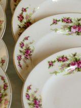 12 assiettes à dessert Petrus Regout & Co Maastricht