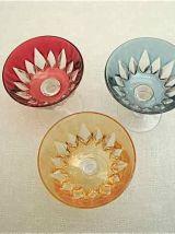 Set 6 petites coupes en cristal