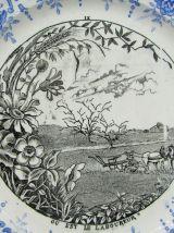 """2 assiettes parlante Saint-Amand """"champêtre"""""""
