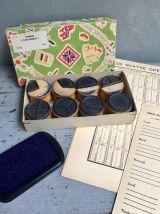 Série de 5 tampons scolaires anciens