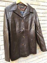 veste femme  en véritable cuir  marron